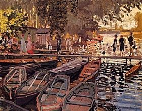 Claude Monet, Baigneurs à la Grenouillère - GRANDS PEINTRES / Monet