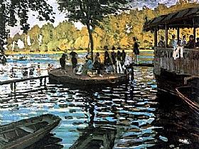 Claude Monet, bain à la grenouillère - GRANDS PEINTRES / Monet