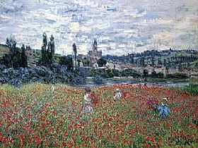 Claude Monet, Coquelicots près de Vetheuil - GRANDS PEINTRES / Monet