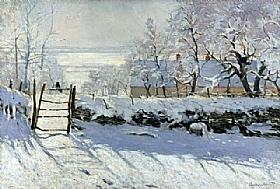 Claude Monet, La pie - GRANDS PEINTRES / Monet