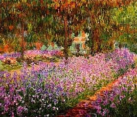 Claude Monet, Le jardin de Monet - les iris - GRANDS PEINTRES / Monet