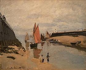 Claude Monet, Le Port à Trouville - GRANDS PEINTRES / Monet