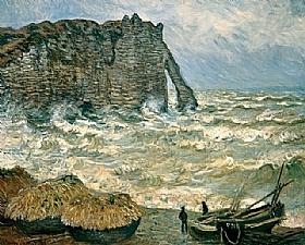 Claude Monet, Mer agitée à Etretat - GRANDS PEINTRES / Monet