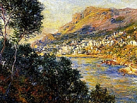 Claude Monet, Monte Carlo vu de Roquebrune - GRANDS PEINTRES / Monet