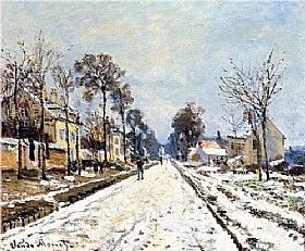 Claude Monet, Neige à Louveciennes - GRANDS PEINTRES / Monet