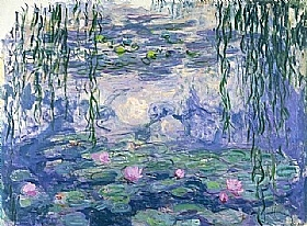 Claude Monet, Nymphéas bleues - les saules - GRANDS PEINTRES / Monet