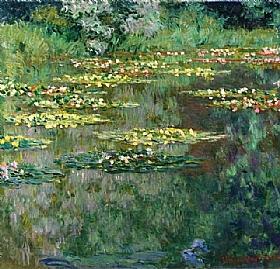 Claude Monet, Les Nymphéas vertes - GRANDS PEINTRES / Monet