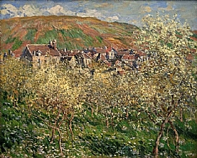 Claude Monet, Pruniers en fleurs - GRANDS PEINTRES / Monet
