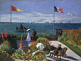 Claude Monet, Terrasse à Sainte Adresse - GRANDS PEINTRES / Monet