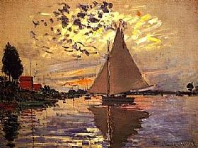 Claude Monet, Voilier au Petit Genevilliers - GRANDS PEINTRES / Monet