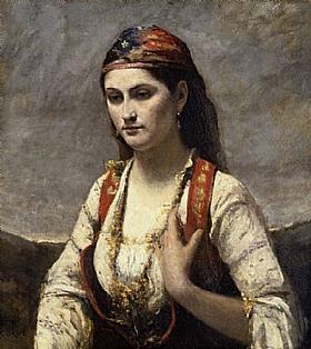 Jean-Baptiste Camille Corot, Albanaise - GRANDS PEINTRES / Corot