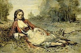 Jean-Baptiste Camille Corot, Algérienne - GRANDS PEINTRES / Corot