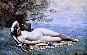 Jean-Baptiste Camille Corot, Bacchante au bord de mer - GRANDS PEINTRES / Corot