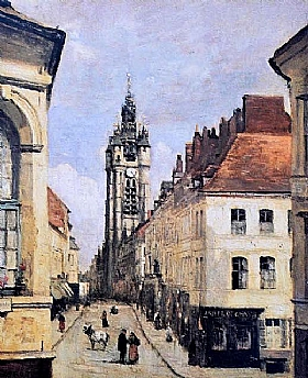 Jean-Baptiste Camille Corot, Beffroi de Douai - GRANDS PEINTRES / Corot
