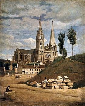Jean-Baptiste Camille Corot, Cathédrale de Chartres - GRANDS PEINTRES / Corot