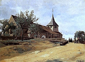 Jean-Baptiste Camille Corot, Eglise de Lormes - GRANDS PEINTRES / Corot