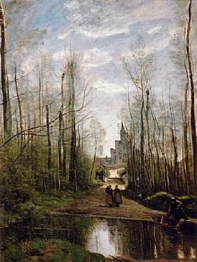 Jean-Baptiste Camille Corot, Eglise de Marissel - GRANDS PEINTRES / Corot