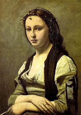Jean-Baptiste Camille Corot, Portrait de Berthe Goldschmidt - GRANDS PEINTRES / Corot