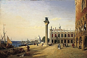 Venise La Piazzetta Jean Baptiste Camille Corot