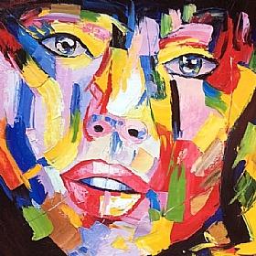 D sirs et passions regard de femme amoureuse tableau de peintures et peinture de tableaux - Les plus beaux tableaux abstraits ...