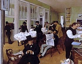 Edgar Degas, Bureau du coton à New Orleans - GRANDS PEINTRES / Degas