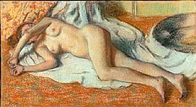 Edgar Degas, Femme nue couchée - GRANDS PEINTRES / Degas