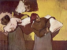 Edgar Degas, Les blanchisseuses - GRANDS PEINTRES / Degas
