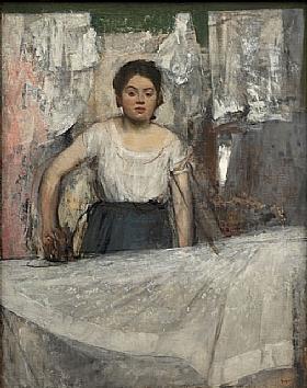 Edgar Degas, La repasseuse - GRANDS PEINTRES / Degas