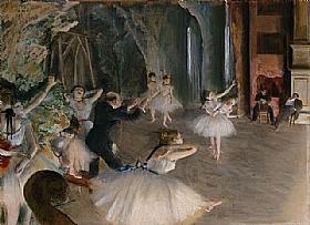 Edgar Degas, Répétition de ballet sur scène - GRANDS PEINTRES / Degas