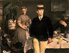 Edouard Manet, Le déjeuner dans l'atelier - GRANDS PEINTRES / Manet