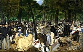 Edouard Manet, La musique aux Tuileries - GRANDS PEINTRES / Manet