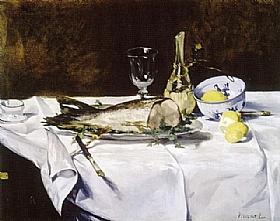 Edouard Manet, Nature morte avec poissons - GRANDS PEINTRES / Manet