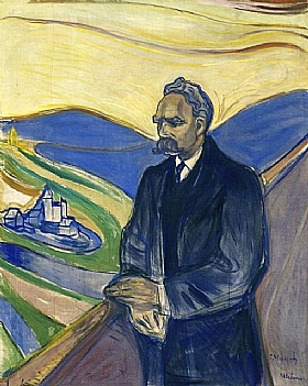 Edvard Munch, Portrait de Friedrich Nietzche, - GRANDS PEINTRES / Munch