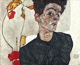 Egon Schiele, Autoportrait avec lanternes - GRANDS PEINTRES / Schiele