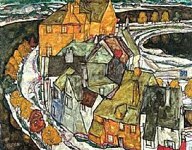 Egon Schiele, Croissant de maisons - GRANDS PEINTRES / Schiele