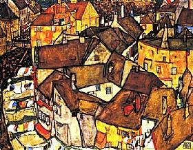 Egon Schiele, Krumau - GRANDS PEINTRES / Schiele