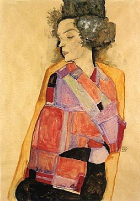 Egon Schiele, La rêveuse - Gerti Schiele - GRANDS PEINTRES / Schiele