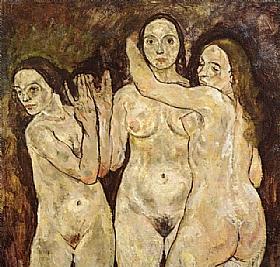 Egon Schiele, Trois femmes nues - GRANDS PEINTRES / Schiele