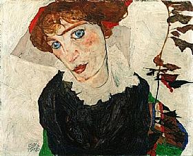Egon Schiele, Portrait de Wally Neuzil - GRANDS PEINTRES / Schiele