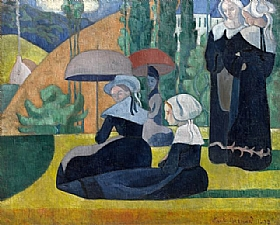 Emile Bernard, Bretonnes avec ombrelles - GRANDS PEINTRES / Bernard