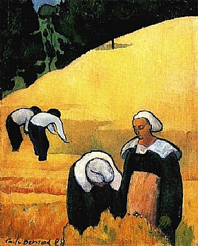 Emile Bernard, La moisson - GRANDS PEINTRES / Bernard