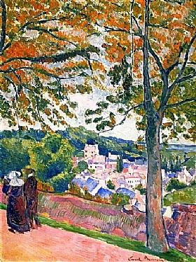 Emile Bernard, Vue de Pont Aven - GRANDS PEINTRES / Bernard