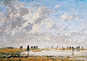 Eugène Boudin, Marée basse à Etaples - GRANDS PEINTRES / Boudin