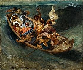 Eugène Delacroix, Christ dans la tempête - GRANDS PEINTRES / Delacroix