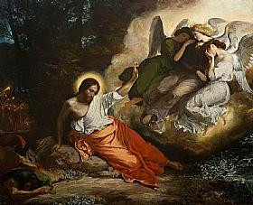 Eugène Delacroix, Christ au jardin des oliviers - GRANDS PEINTRES / Delacroix