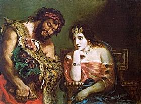 Eugène Delacroix, Cléopatre et un paysan - GRANDS PEINTRES / Delacroix