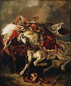 Eugène Delacroix, Combat du Giaour et du Pacha - GRANDS PEINTRES / Delacroix