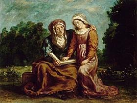 Eugène Delacroix, L'éducaiton de la vierge - GRANDS PEINTRES / Delacroix