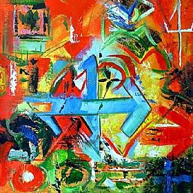 Sens de la vie, EXIT ...Suivez la flèche - PEINTURES / Tableaux Abstraits