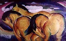 Franz Marc, Chevaux marrons - GRANDS PEINTRES / Marc